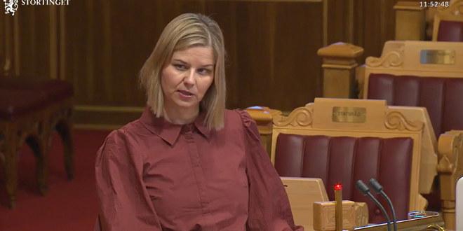 Guri Melby i spørretimen på stortinget onsdag 20.01.01