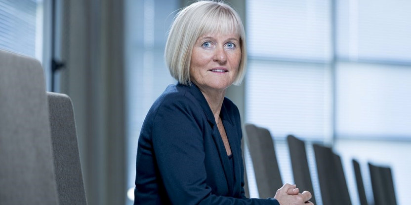 Ragnhild Lied, leder i Unio. Nærbilde.
