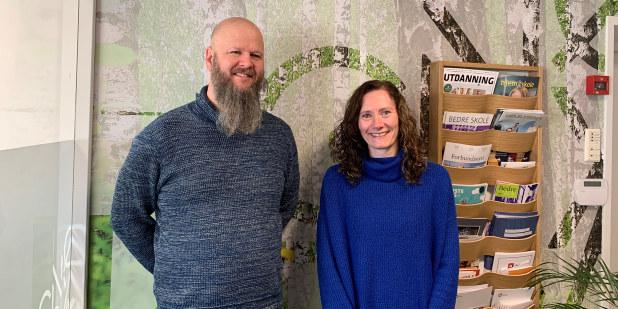 Bilde av Thore Johan Nærbøe og Jill Johansen i forbindelse med barnehagedagen