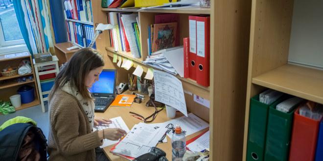 Norstrand skole, 2014, lærerværelse, arbeidsplass, kontor, lærer, møte
