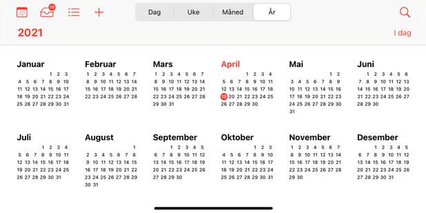 Illustrasjonsfoto av iPhone-kalender.