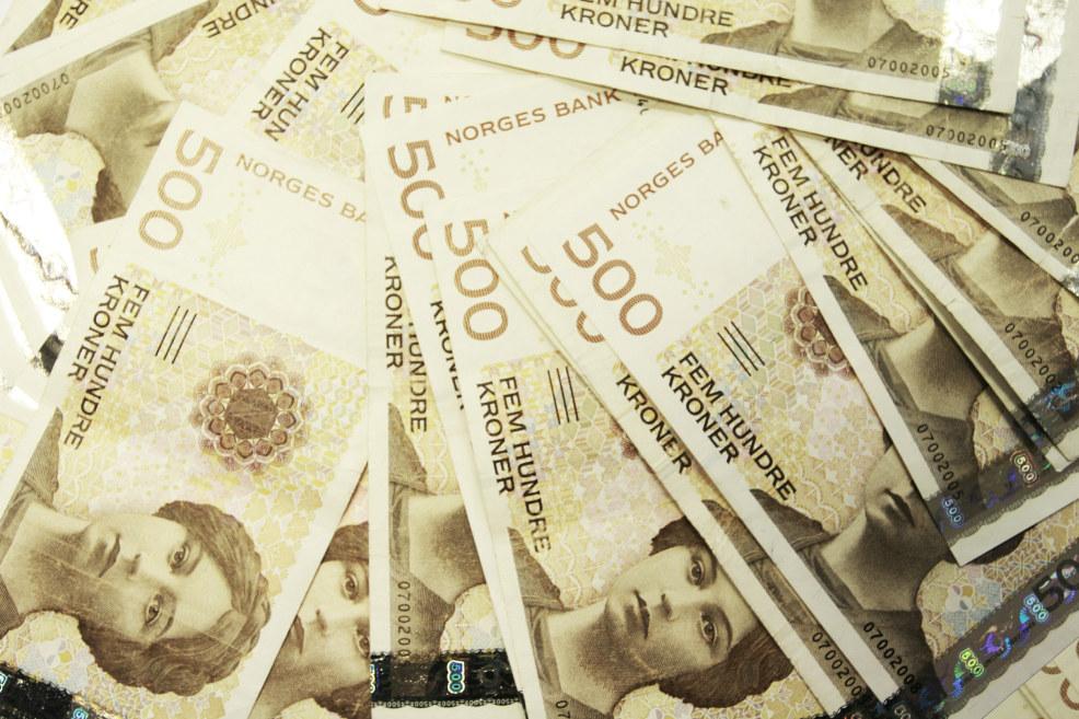 Bilde av pengesedler
