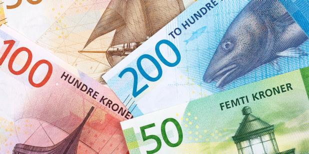 Norske kroner. Penger. Money