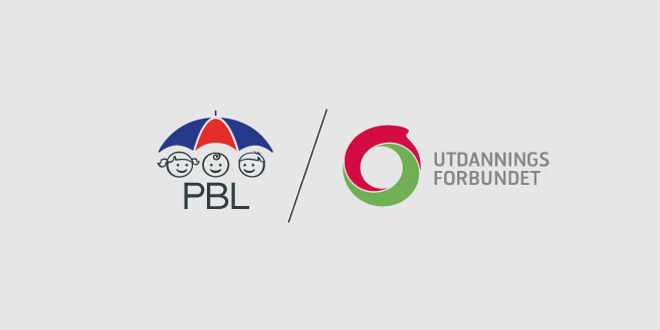 Logoene til PBL og Utdanningsforbundet.