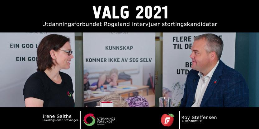 Roy Steffensen valg 2021