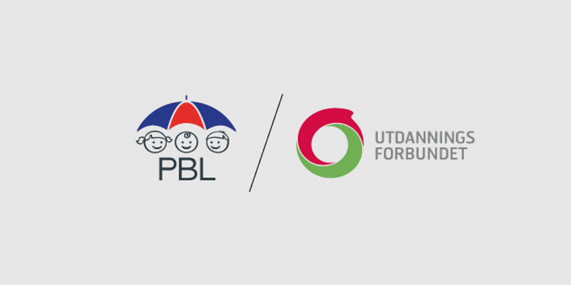Logoer for PBL og Utdanningsforbundet.