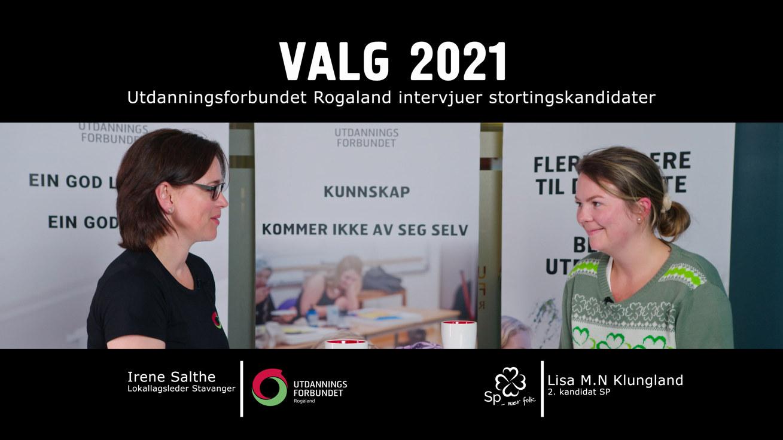 Valg 2021 Senterparti Rogaland